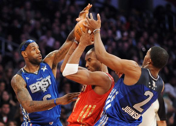"""NBA """"Visų žvaigždžių"""" rungtynių akimirka"""