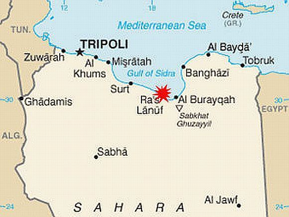 cia.gov iliustr./Libijos žemėlapis