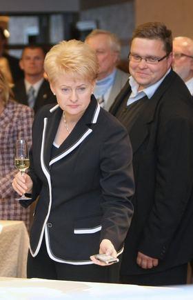 Kęstučio Vanago/BFL nuotr./Dalia Grybauskaitė ir jos rinkimų atabo vadovas Vitas Vasiliauskas