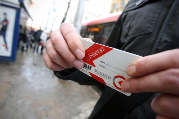 Kovo 11-ąją Kaune galios e.bilietas, galiojantis pirmadieniais-penktadieniais, o ne savaitgaliais