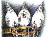 V.Beresniovo karikatūros/Šių metų parodos dalyviai pokštauja krepšinio tema.