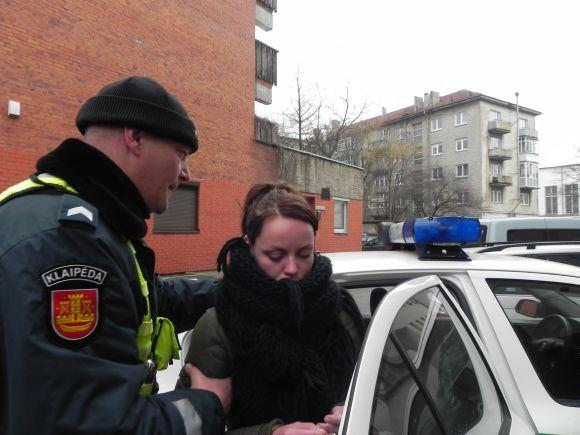 Ginos Kubiliūtės/15min.lt nuotr./V.Filiponenko į Klaipėdos apylinkės teismą buvo atgabenta aeatadienį.