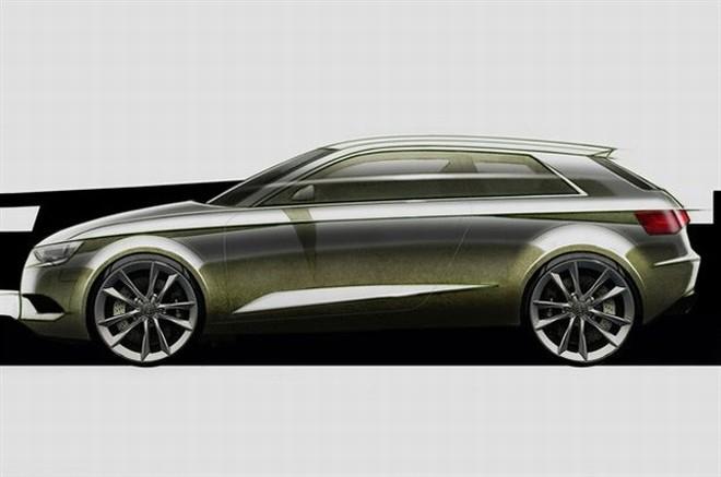 """""""Audi A3"""" eskizai"""