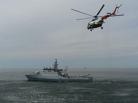 Jūroje organizuojami Karinių jūrų pajėgų Karo laivų flotilės Patrulinių laivų diviziono laivų jūrinių operacijų mokymai.