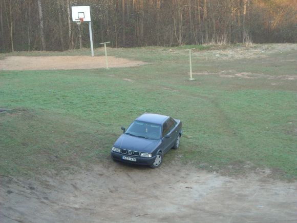 15min.lt skaitytojo N. nuotr./Fotopolicija. Automobiliai Vaduvos gatvėje, Vilniuje, ant žolės