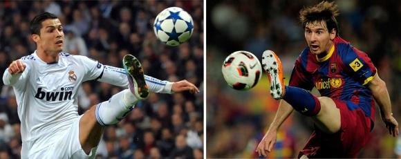 C.Ronaldo (kairėje) ir L.Messi