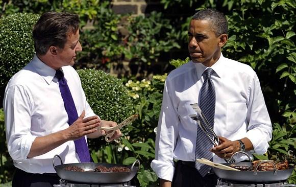 Davidas Cameronas ir Barackas Obama