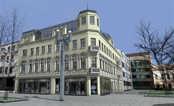 Ant senovinio pastato užmaukšlinus stiklinį antstatą, jame planuojama atidaryti viešbutį.