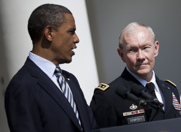Barackas Obama ir Martinas Dempsey