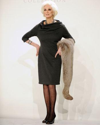 """AFP/""""Scanpix"""" nuotr./Vyriausias pasaulio modelis Carmen Dell'Orefice"""