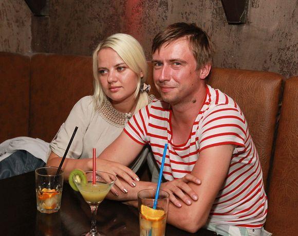 Marius Jampolskis su drauge Renata