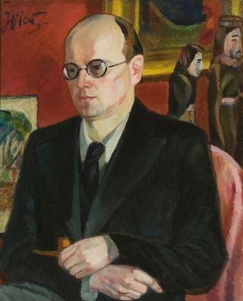 """Vilniaus paveikslų galerijos nuotr./Justinas Vienožinskis. """"Kazio Borutos portretas"""". Vilnius, 1943."""