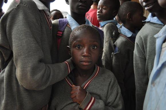 Eldoreto luanynų mokyklos moksleivis.