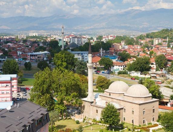 123rf.com nuotr./Makedonijos sostinės Skopjė panorama.