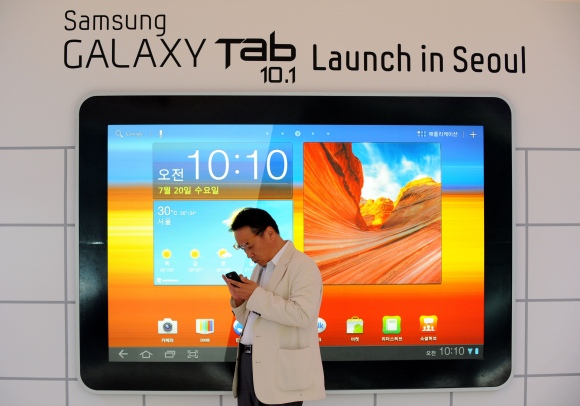 """Galaxy Tab 10.1"" pristatymo akimirka"