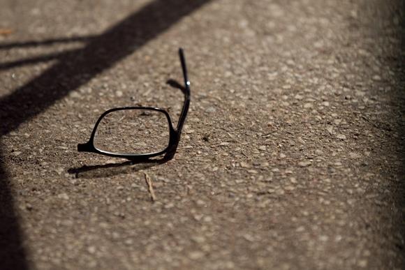 Sudužę akiniai