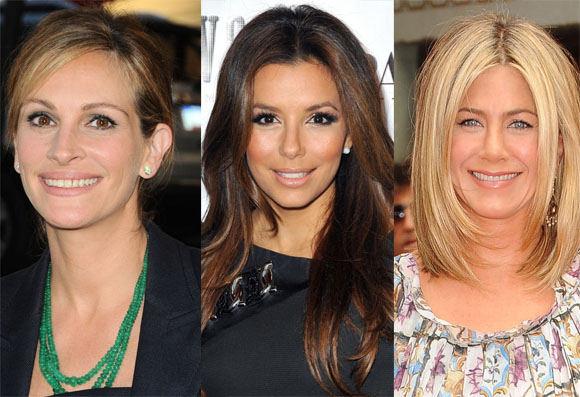 AOP nuotr./Julia Roberts, Eva Longoria, Jennifer Aniston