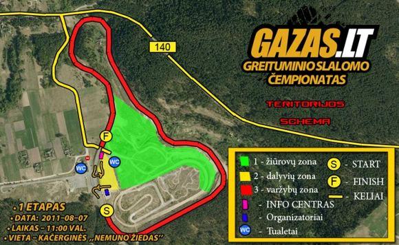 GAZAS.LT greituminio slalomo turnyro trasos schema