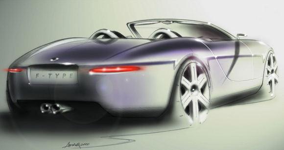 Gamintojo eskizas/Jaguar F-type eskizas