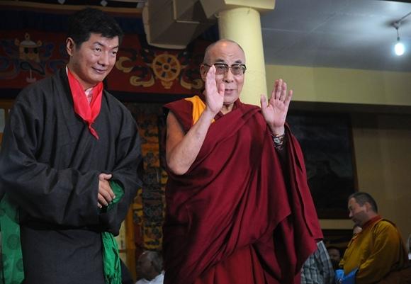 Lobsang Sangay and Dalai Lama