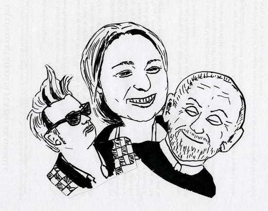 Teatro Lėlė nuotr. /54-ojo sezono rykliai: Kirilas Gluaajevas, Julija Skuratova ir Vitalijus Mazūras