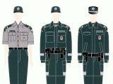 Policijos departamento iliustracija/Policininkų uniformos