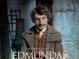 """Filmo """"Tadas Blinda. Pradžia"""" plakatas/Dainius Kazlauskas filme """"Tadas Blinda. Pradžia"""" sukūrė Edmundo personažą"""