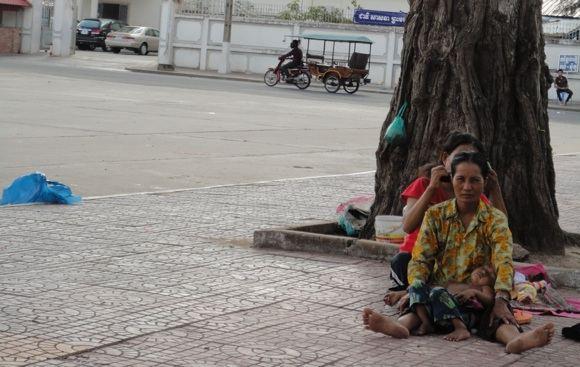 R.Kuzminskaitės nuotr./Kambodžos skurdas