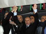 """AFP/""""Scanpix"""" nuotr./Mustafa Abdul Jalilis kalba Tripolio gyventojams."""