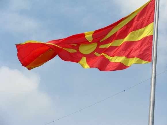 M.Podniecės nuotr./Makedonijos respublikos vėliava