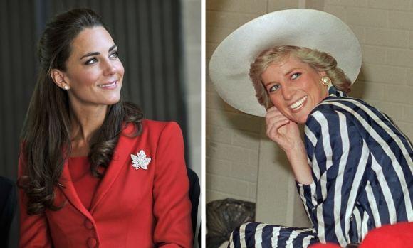 Reuters ir AFP nuotr./Kembridžo hercogienė Catherine ir princesė Diana
