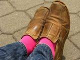 M.Podnieces nuotr./Rožinės kojinės