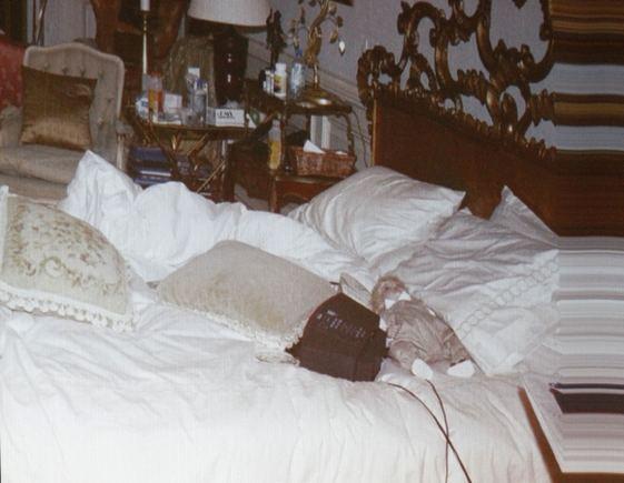 AFP/Scanpix nuotr./Michaelo Jacksono lovos nuotrauka buvo parodyta teisme.
