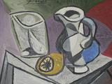 """""""Reuters""""/""""Scanpix"""" nuotr./Pablo Picasso paveikslas """"Glass and Pitcher"""" (liet. """"Stiklinė ir ąsotis"""")"""