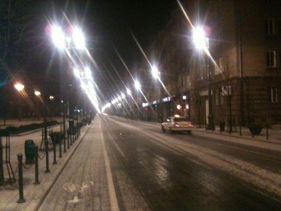 Pirmas lapkričio sniegas Vilniuje