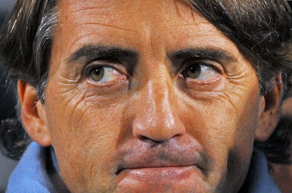"""Manchester City"" treneris Roberto Mancini"