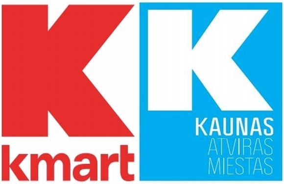 """Kauno prekės ženklas ir JAV prekybos tinklo  """"Kmart"""" prekės ženklas. Panašu?"""