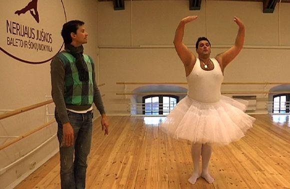 Vitalijus Cololo mokėsi baleto meno pas Nerijų Jušką