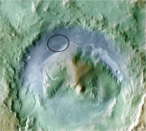 Scanpix nuotr./Gale krateris, į kurį turi nusileisti NASA marsaeigis