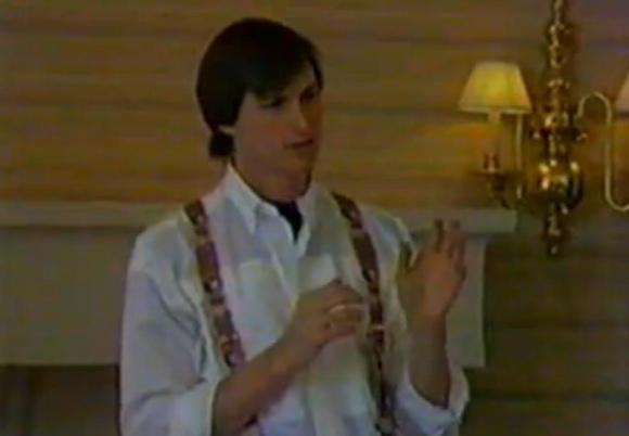 """Istoriniuose vaizdo įrašuose užfiksuota, kaip Steve'as Jobsas vadovavo kompanijai """"NeXT"""", kurią įkūrė 1985 metais."""
