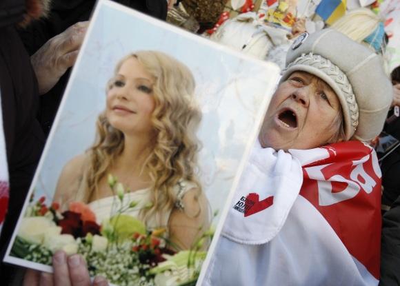 Juliją Tymošenko palaikantys žmonės