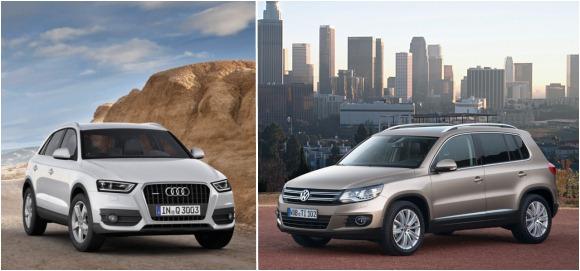 """Audi Q3"" prieš ""Volkswagen Tiguan"""