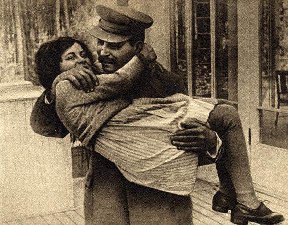 Josifas Stalinas su dukra Svetlana (1935 m.)