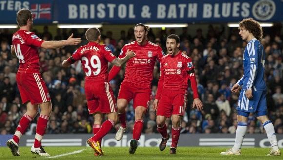 """""""Liverpool"""" džiaugsmas dar kartą nugalėjus """"Chelsea""""."""