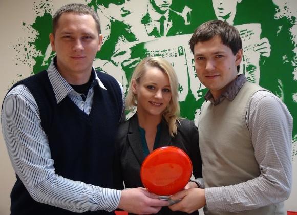 15min.lt sporto žurnalistai (iš kairės) – Julius Bliūdžius, Asta Žukaitė ir Aurimas Tamulionis.