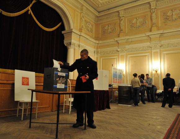 Rusijoje vyksta Valstybės Dūmos rinkimai.