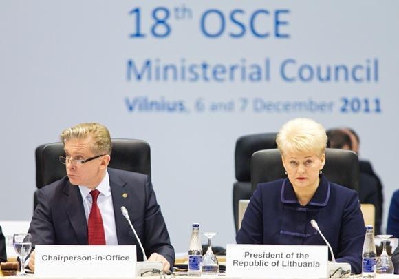 Audronius Ažubalis ir Lietuvos prezidentė Dalia Grybauskaitė