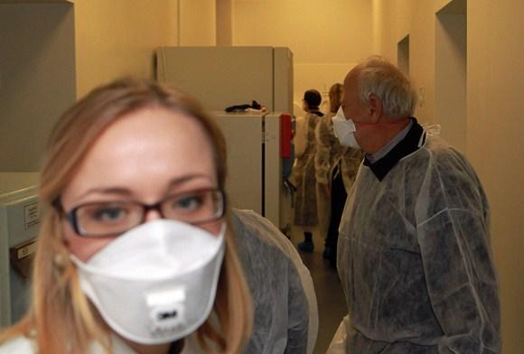 Tuberkuliozės bakteriologijos laboratorijoje
