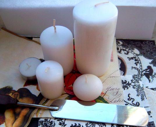 Žvakių dekoravimui reikalingos priemonės