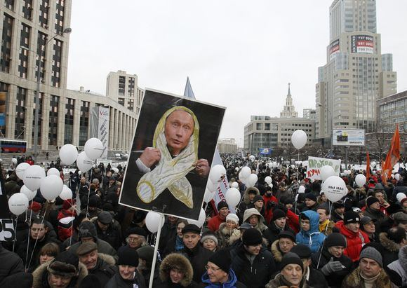 Reuters/Scanpix nuotr./Protestas Maskvoje